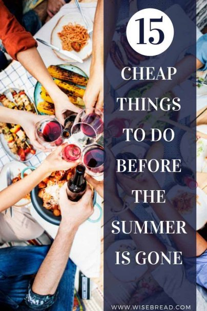 Summer is a great opportunities to save money on fun activities. We've got the list of 15 cheap things you can do, from open air cinemas, to free concerts, here's the list of budget activities! | #freeactivities #frugalfun #cheapactivities