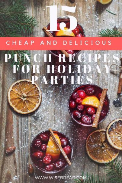 Want some cheap, and easy boozy punch for the christmas festive season? We've got the best recipes for alcohol and nonalcoholic delicious punches! Hey, you could even give it as a DIY Christmas gift! | #christmaspunch #boozypunch #frugalliving #DIY