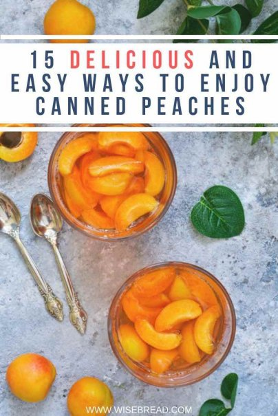 Peaches are extremely versatile, especially when they are canned. Here are 15 ideas for things to do with canned peaches. | #peach #cannedfruit #recipes