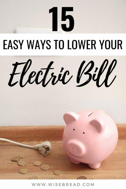 Want to lower your electric bill in your home? This can be great way to help you start saving money. We've got the tips and easy ways you can cut down your electric bill. | #electricbill #savemoney #moneysaving