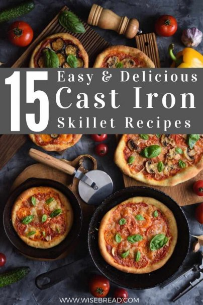 Turns out you can make most anything in a cast iron skillet, from breakfast to dessert, pizza to pie. Check out these awesome ideas. | #skillet #thriftyfood #food