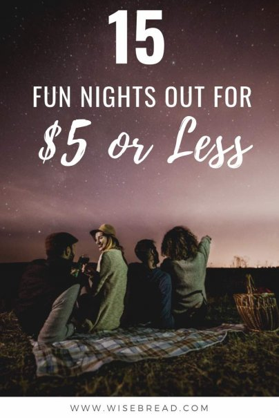Want to know how to entertain yourself on the cheap? We've got 15 fun things you can do at night for $5 or less! So save your money and check out our tips of some frugal fun activities! | #cheapactivities #frugalfun #moneysaving