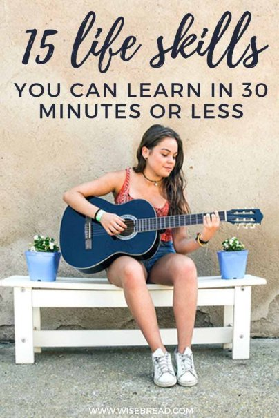 If you've got 30 minutes, here are some skills that you can master. What's better, these activities and hobbies are mostly free — and some can even save you some money! | #hobbies #moneysaving #lifeskills
