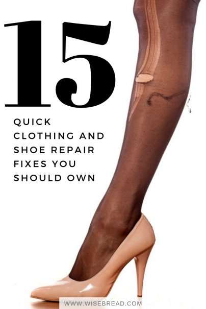 15 Quick Clothing and Shoe Repair Fixes You Should Own