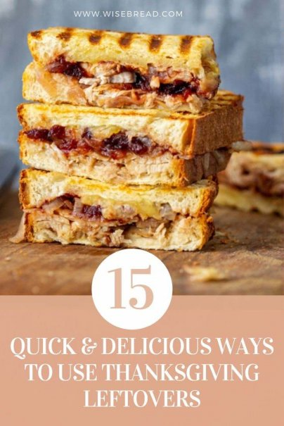 Here are 15 quick and easy ways to turn your thanksgiving holiday leftovers into another couple of delicious meals. | #thriftyfood #thanksgiving #leftovers