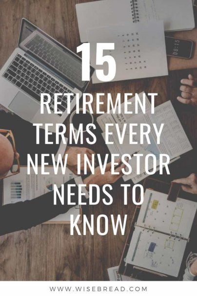 Are you a new investor? From contribution limits, early penalty fees, and Roth 401Ks, we've got the 15 retirement terms you need to know about as a novice investor. | #investing #retirement #investment