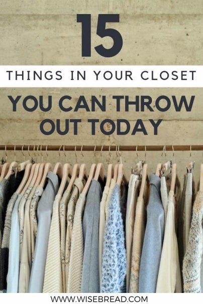It's time for spring cleaning to happen, and what better way to be more minimalistic than cleaning out your closet. We've got the tips to help you separate wearable clothes from wardrobe clutter! | #minimalism #springcleaning #frugalliving