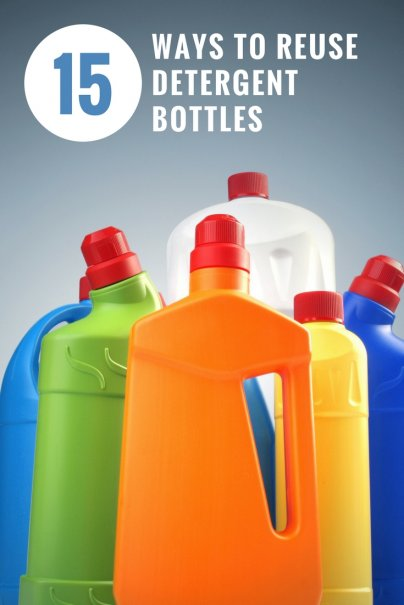 15 Ways to Reuse Detergent Bottles