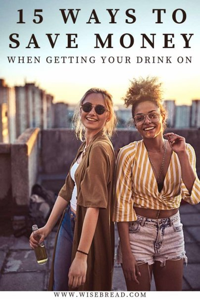 Going out for drinks can be a fun, however the costs can add up quickly. Here's how you can save money on a night of bar hopping and drinking! Be more frugal and budget friendly with our 15 tips! | #cheapnightout #cheapdates #frugalliving
