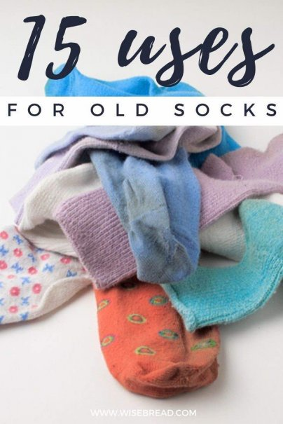 As sure as the sun will rise tomorrow, so too will the dryer eat one of your socks. What can you do with the lonely leftover? We've got 15 uses for old socks! | #DIY #lifehacks #socks