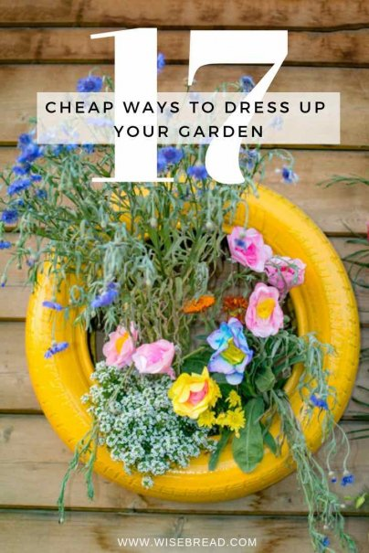Want to spice up your garden? Try some DIY projects on the holiday? There are plenty of crafty way to brighten things up for cheap, on a frugal budget! | #DIY #Frugalliving #gardening #projects