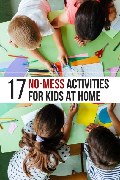 17 Creative, No-Mess Activities for Kids Stuck at Home