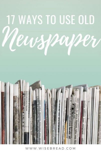 Before you recycle your newspaper, here are some thrifty ways to upcycle newspaper! From wrapping gifts, washing windows, preventing garden weeds, making origami sculptures, here are some tips for you. | #lifehacks #newspaper #upcycle