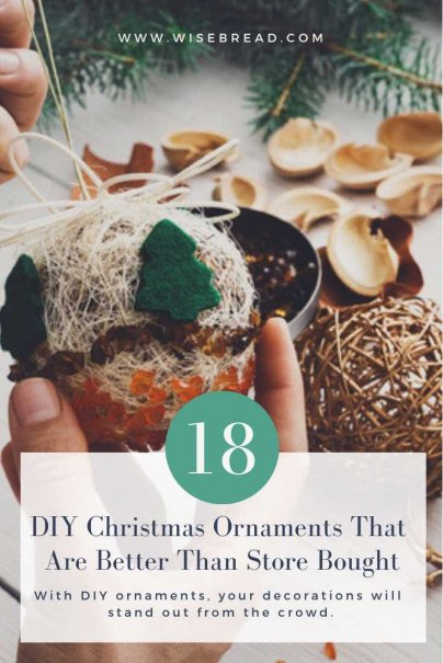Searching for some ideas for DIY christmas decorations? Get crafty with these homemade ornaments that you can decorate your tree with, or your room decor! You can even gift them as presents for your family and friends. Get the craft count down started and do these projects with your kids! | #DIY #Frugaltips #christmascrafts