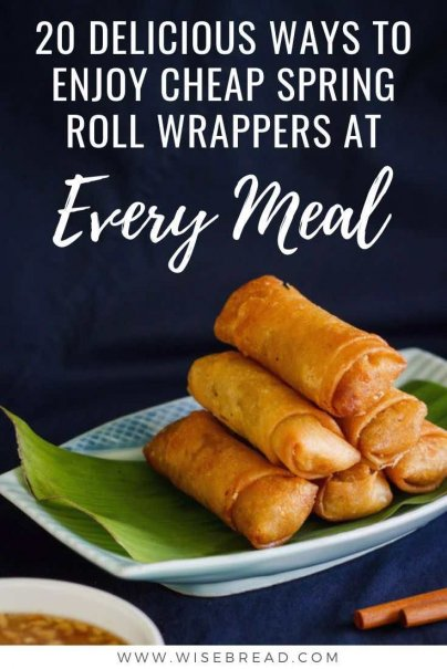 At less than $2 for a package of these Spring Roll wrappers, why not experiment with some interesting fillings? This is one frugal and budget friendly meal recipe to try! | #springrolls #chinese #thriftyfood