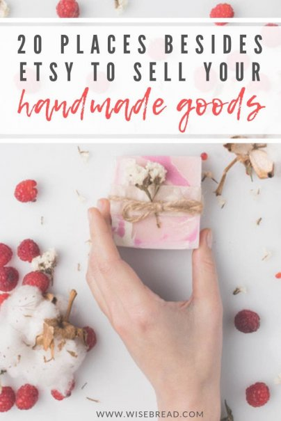 Do you enjoy making handmade goods? If you are looking for a place to sell your unique items, including art, photography, clothings, jewellery and knick knacks, there are plenty of other places where you can sell and make money. We've got 20 places for you, and tips on what they may charge! | #onlinestore #sellingonline #homemadegoods