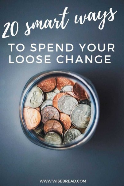 Loose change is hard-earned cash that we can spend wisely if we're mindful and do some planning. So, here are 20 smart ideas for how to spend your stash of collected change. | #moneyhacks #finance #personalfinance