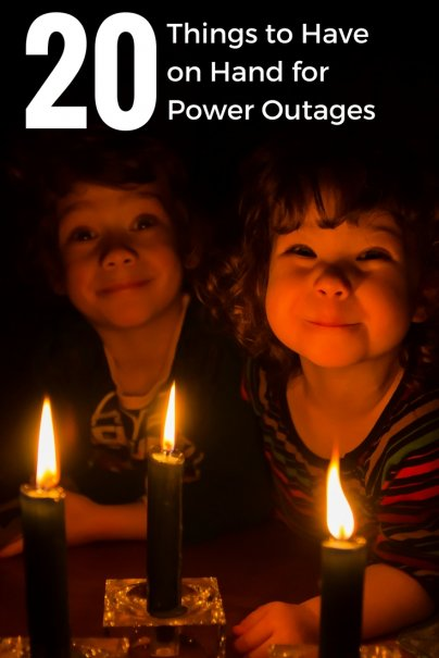 20 Things to Have on Hand for  Power Outages