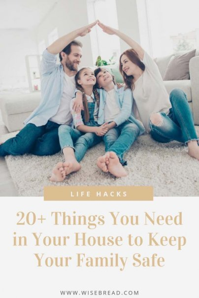 Want to know if your house is safe for your family? Here's a handy list you can use to examine some of the top concerns in each room of your house! | #homesafety #lifehacks #safety