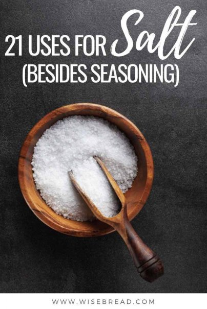 Salt has many useful uses, from curing canker sores to repelling ants to de-icing driveways — and 18 more uses you can find right here. | #salt #saltuses #kitchenhacks