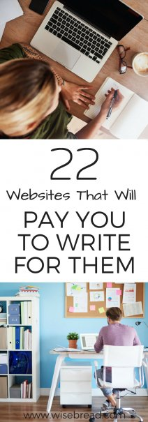 22 Websites That Will Pay You to Write for Them