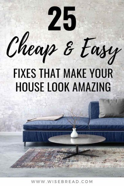 Want to make your house look amazing? We've got some cheap and easy fixes that'll give your house the upgrade you're after! Check out our budget friendly and frugal home tips and start renovating today! | #renovating #hometips #frugalhome