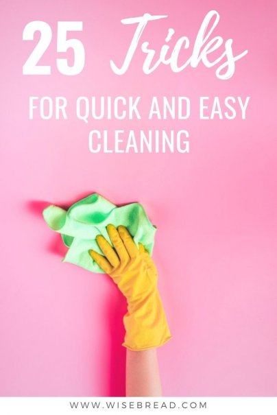 Need to start cleaning your house? We've got the quick cleaning tips and tricks that can save you time and money. | #cleaninghacks #cleaningtips #DIY
