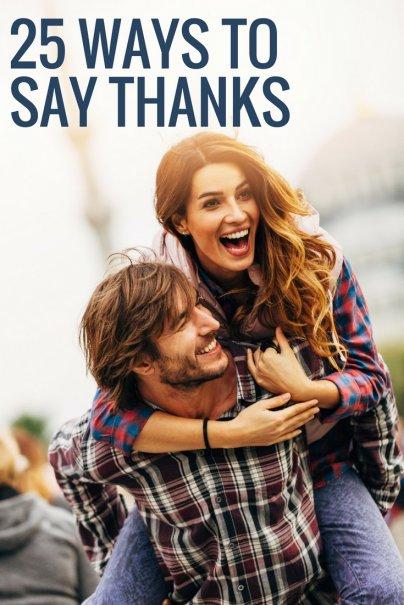 25 Ways to Say Thanks