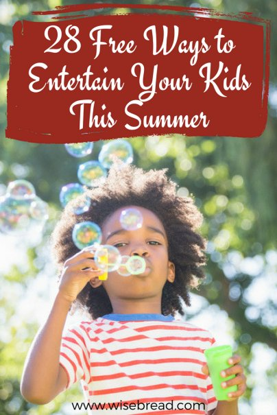 28 Free Ways to Entertain Your Kids This Summer