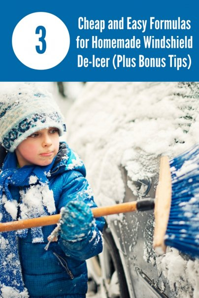 3 Cheap and Easy Formulas for Homemade Windshield De-Icer (Plus Bonus Tips)