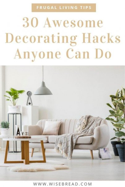 Want some budget friendly and easy decorating tips and hacks? Try out some of our ideas to incorporate some quick decorating solutions for your living space! | #decor #homedecor #frugaltips
