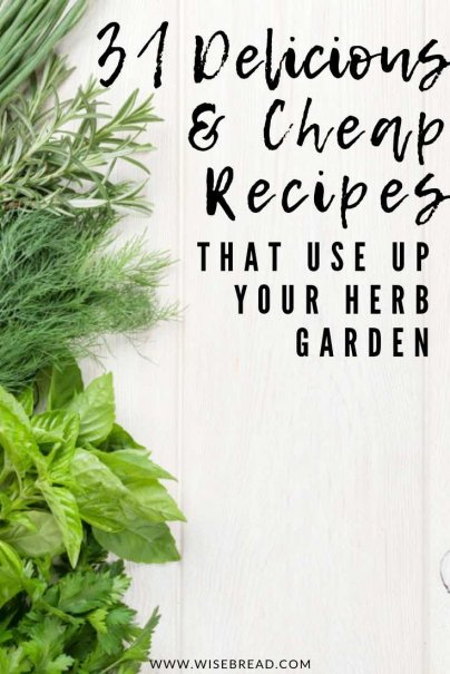 Want to know how to make cheap and delicious recipes using fresh herbs from your garden? From cooking ideas, to salads, pestos, cocktails and more, here are some ways to add these healthy and natural ingredients to your meals! | #freshherbs #herbs #frugalliving