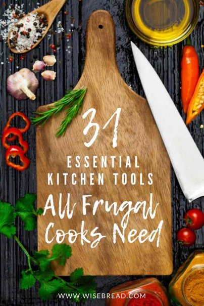 Want to give your kitchen a frugal makeover? We've got the best tips on what kitchen utensils you need so you can start saving money when you create budget meals for your families! This is a recipe for a sustainable kitchen for your house! | #frugal #sustainable #frugalkitchen