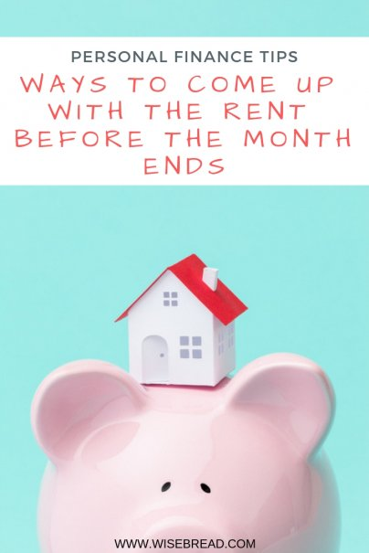 34 Ways to Come Up With the Rent Before the Month Ends