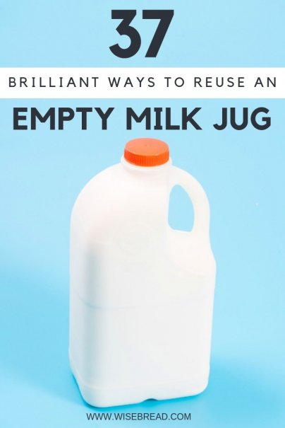Who needs money when you've got a recycling bin full of possibilities? Before you throw out another plastic milk jug, consider the crafty potential. From creating DIY kids toys, like a beach shovel or hanging mobile, to creating a gift box, we've got plenty of tips and ideas for you! #frugalliving #DIY #crafts #plasticmilkbottle