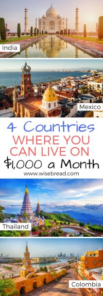 4 Countries Where You Can Live on $1,000 a Month