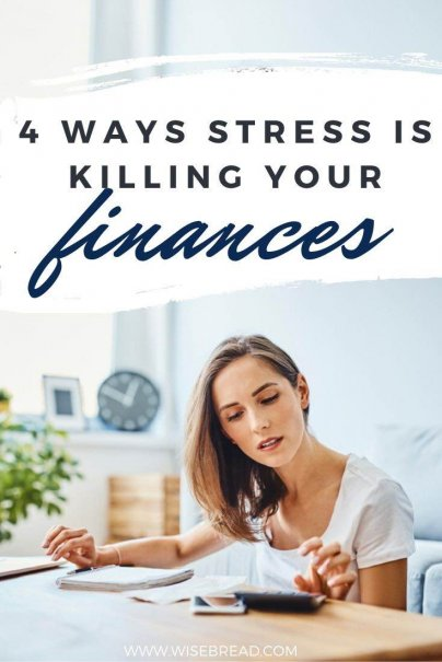 Do you get stressed about your finances? Here are four ways that stress can ruin your financial health. | #finances #personalfinance