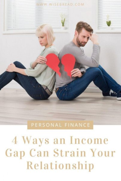 Income disparity, when one person makes much more than the other, can be a surprising source of stress. If you're one of these couples, be on the lookout for these four ways an income disparity could harm your relationship. | #personalfinance #moneytips #relationship