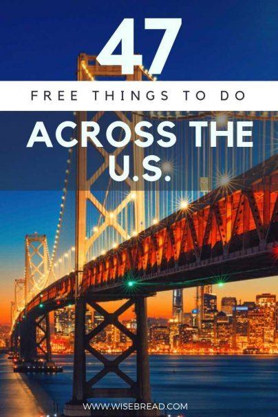 Looking for fun, free things to do in the USA? We've got plenty of ideas for you, from  New York City, to Washington DC, Las Vegas, Los Angeles, New Orleans and more! You can hang out with your kids or families with out budget friendly travel guide! | #USA #freeactivities #thingstodo