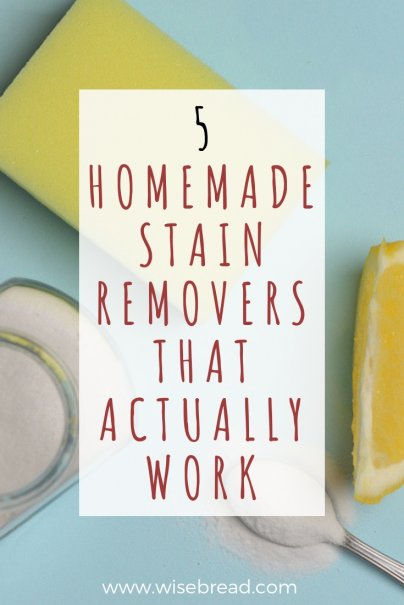 5 Homemade Stain Removers That Actually Work
