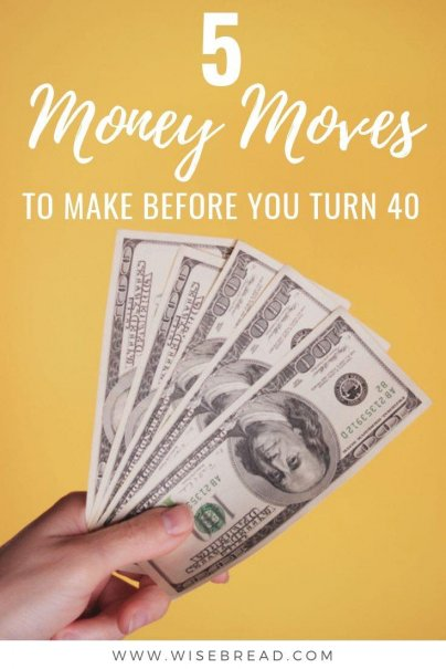 Made any financial mistakes? If you are turning 40 soon, then it is time to get serious about your money if you want to enjoy your golden years without financial stress. That's why financial advisers suggest a handful of money moves everyone should make before their 40th birthday. | #moneymoves #moneymatters #financialtips