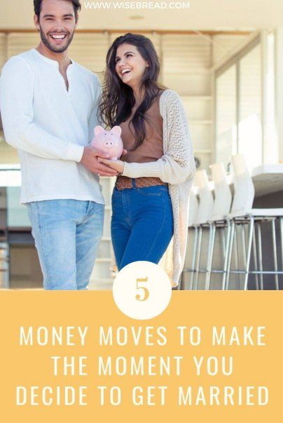 Getting married soon, or are you already a newly wed? Here are the top five money moves you and your betrothed should make. | #personalfinance #marriage #financetips