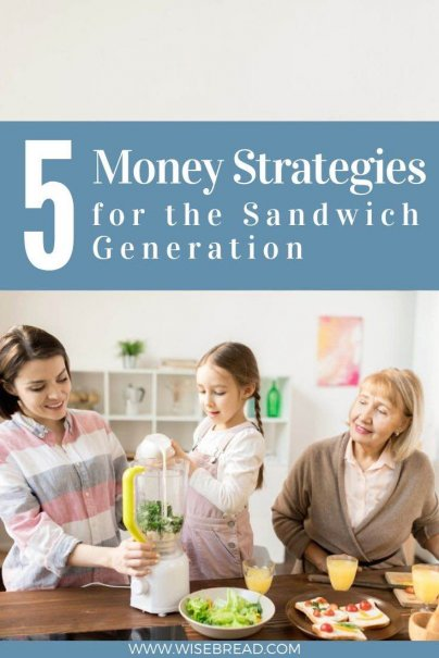 Being in the sandwich generation can be stressful and financially draining. Here are five strategies to stay financially afloat if you're caring for others. | #sandwhichgeneration #personalfinances #moneymatters