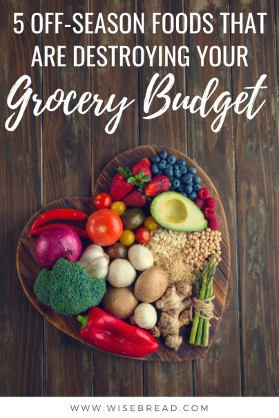 Do you get a craving for strawberries in the dead of winter, or fresh tomatoes in early spring. You may be able to get these year round, but they certainly aren't cheap. Find out which five off season fruits and veggies can destroy your grocery budget. | #frugalfood #moneysaving #shoppingtips