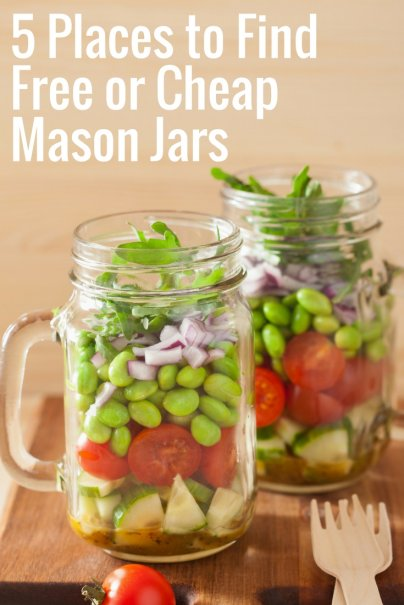 5 Places to Find Free or Cheap Mason Jars