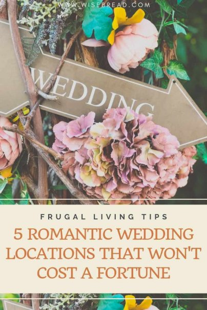 Want some tips and ideas to find a budget wedding venue? This can still be beautiful and romantic if you know where to look. We've got 5 wedding locations that will help keep money in your pocket!   #cheapwedding #weddinghacks #weddingvenues