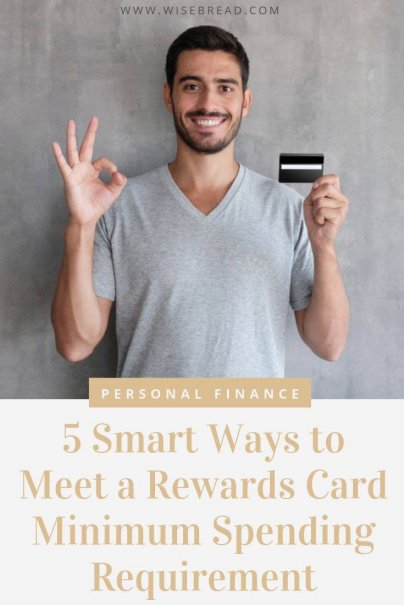 The minimum spending requirement for a new rewards card could be anywhere from $1,000 to $10,000, depending on the card. That's why we've got the tips on things you're likely already spending on, not additional expenses that will break your budget. | #rewardscards #budgeting #moneytips