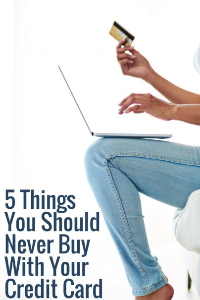 5 Things You Should Never Buy With Your Credit Card