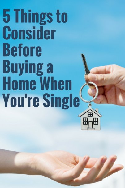 5 things to consider before buying a home when you 39 re single for Things to do to buy a house