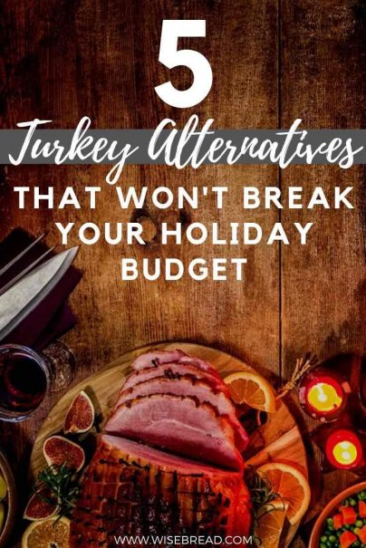 Thanksgiving is awesome, but all those ingredients equals one time-intensive and expensive meal. That's why we've found five turkey alternatives that won't break your budget. | #budget #thanksgiving #holidays